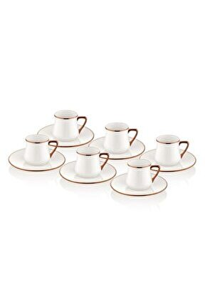 Kahve Fincanı Seti - 6 Kişilik Bakır