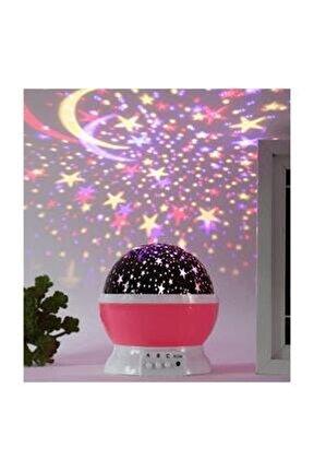 Dönen Projeksiyon Gece Lambası Star Master Ay Yıldız Led - Pembe