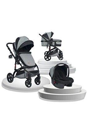 New Truva Iıı Travel Sistem Bebek Arabası - Gri