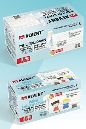 1 Kutu Beyaz 1 Kutu 10-16 Yaş Çocuk Yumuşak Kulak Meltblown Maske(en Az %98 Koruma-sertifikalı)