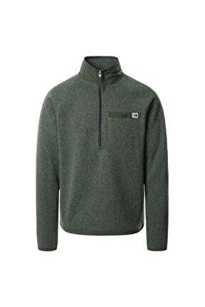 M Gl 1/4 Zip Erkek Yeşil Sweatshirt Nf0a5gl217h1