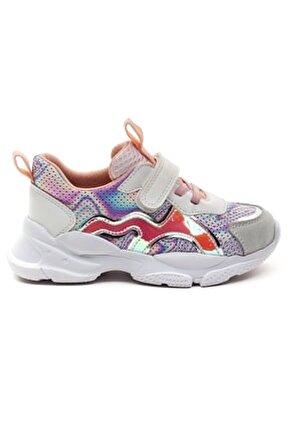 Kız Cocuk Beyaz Deri Ortopedik Destekli Spor Ayakkabı