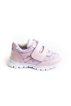 Kız Çocuk Pembe Deri Ortopedik Spor Ayakkabı