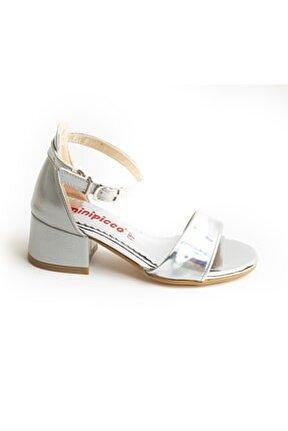 Kız Çocuk Gümüş Özel Tasarım Abiye Ayakkabı
