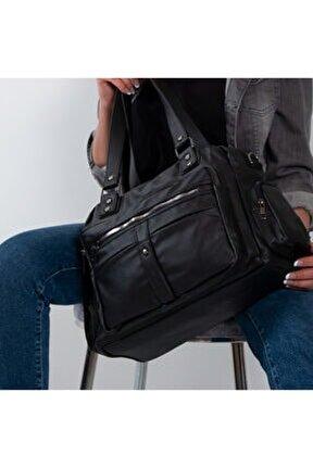 Yıkama Deri Kadın Omuz Çanta Bayan Çapraz Çanta 514-1 Siyah