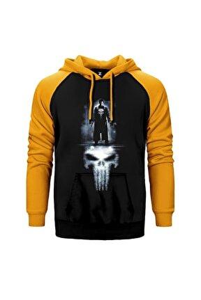 Punisher Reflection Sarı Reglan Kol Kapüşonlu Sweatshirt