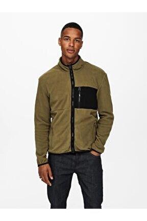 Davis Life Fleece Jacket Otw Erkek Kahverengi Sweatshirt 22018330-15
