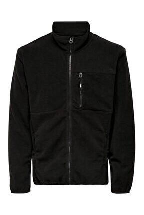 Davis Life Fleece Jacket Otw Erkek Siyah Sweatshirt 22018330-02