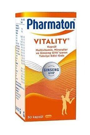 Vitality Multivitamin 30 Kapsül - Takviye Edici Gıda