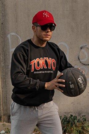 Tokyo Siyah Swetshirt
