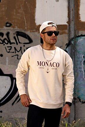 Erkek Monaco Ekru Sweatshirt