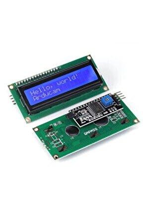 Arduino Lcd1602 Haberleşmeli Ara Yüz Kartlı Iıc/ı2c Mavi Işıklı