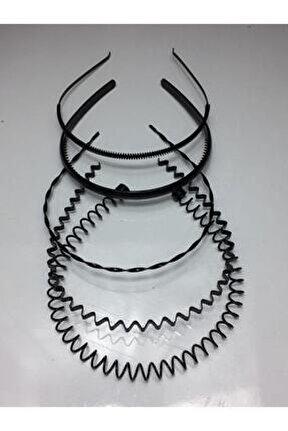 Siyah Metal Taç Erkek Kadın Sporcu Saç Tacı 5 Parçalı Set-1