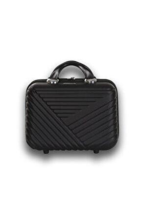Premium Abs Makyaj Çantası & El Valizi Siyah