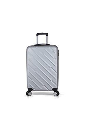 Gri Unisex Kabin Boy Valiz TR0458