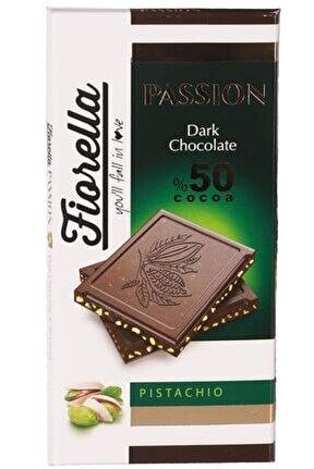 Passion Fıstıklı Bitter Tablet Çikolata 100 Gr. 1 Adet