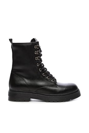 Siyah Kadın Vegan Sneakers & Spor Bot 402 2501B BN BOT SK19-20
