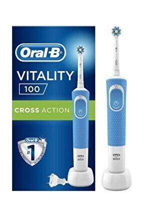 D100 Şarj Edilebilir Diş Fırçası Cross Action Mavi