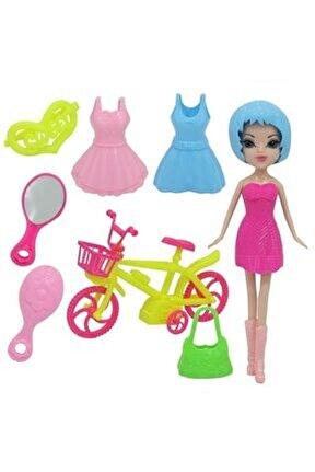Kıyafetli Bisikletli Bebek