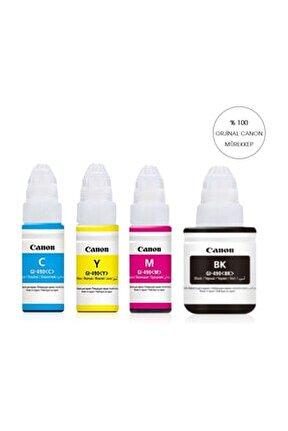 Orijinal 4 Renk Takım G1400 G2400 G3400- Gı 490 Yazıcılar Için Uyumlu Mürekkep