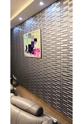 Nw65 Gri Opak Kendinden Yapışkanlı Duvar Paneli