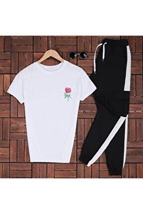 Unisex Rose Beyaz T-shirt Es510