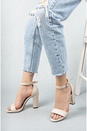 Kadın Marcas Ten Deri Topuklu Ayakkabı