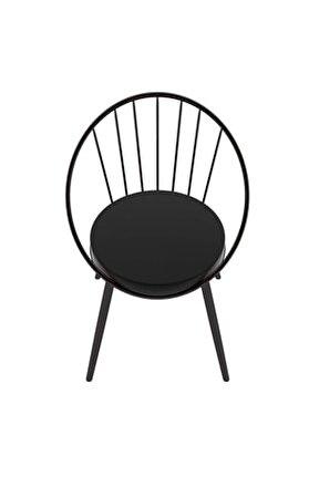 Eylül Metal Tel Sandalye Siyah