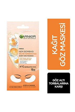 Nem Bombası Kağıt Göz Maskesi Portakal Suyu & Hyaluronik Asit 6 G