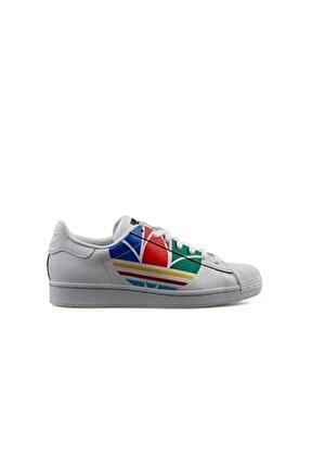 Genç Günlük Ayakkabı Beyaz Superstar J Fw4005