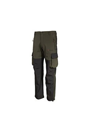 Erkek  Haki Kargo Cepli Softshell Outdoor  Pantolon