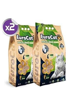 Hızlı Topaklaşan Doğal Kedi Kumu 10 Lt X2