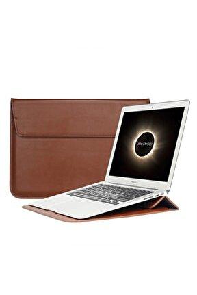 Apple MacBook Air Retina 13.3 13  Vegan Deri Çanta Kılıf Sleevebag  Stand Pu1