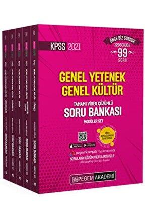 2021 Kpss Genel Yetenek Genel Kültür Tamamı Video Çözümlü Soru Bankası Modüler Set - (5 Kitap) Pegem