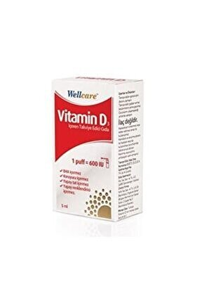 Vitamin D3 600 Iu 5 Ml Sprey