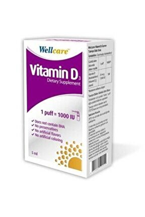Vitamin D3 1000 Iu 5 Ml Sprey