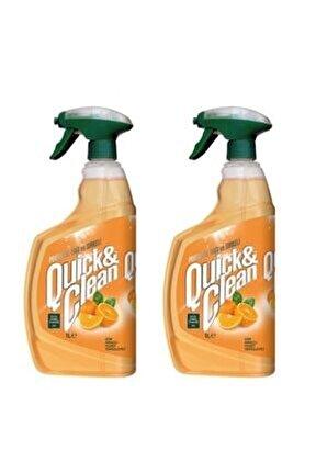 Quıck&clean Çok Amaçlı Yüzey Temizleyici Portakal Yağlı 1 Lt