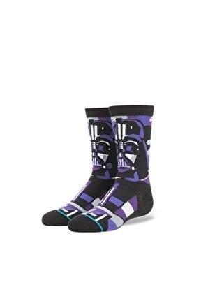 Erkek Çocuk Siyah Vader Mosaic Boys Black Çorap