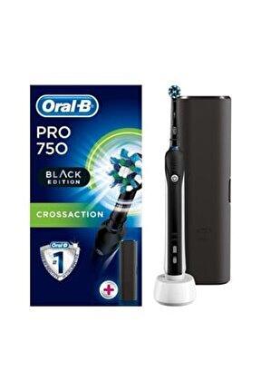 Pro 750 Şarj Edilebilir Diş Fırçası Cross Action Siyah