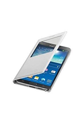 N9000 Galaxy Note 3 S View Cover  Orjinal Kılıf - Beyaz - EF-CN900BWEGWW