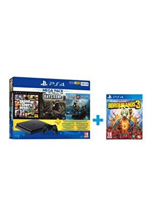 Playstation 4 Slim 500 GB Mega Pack + PS4 Borderlands 3 Hediye (Eurasia Garantili)
