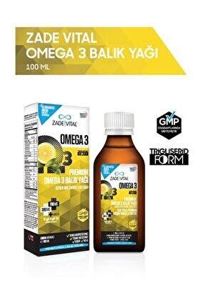 Omega 3 Balık Yağı Şurubu Limon Aromalı 100 ml