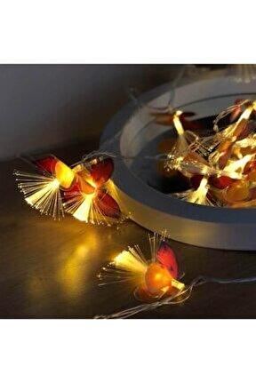 Kelebekli Led Işık Dizeleri 20'li 3 Metre Fişli Animasyonlu