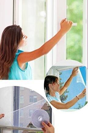 Kesilebilir Pencere Sinekliği 3 Adet Cırt Bantlı Yapışkanlı 100cm X 150cm