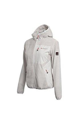 Kadın Ekru Outdoor Yumuşak Polarlı Ceket