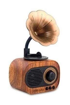 Mn-s19 Ahşap Klasik Retro Gramofon Bluetooth Müzik Kutusu