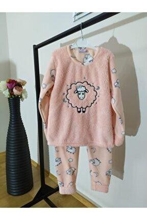Kız Çocuk Pembe Polar Takım