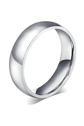 Gümüş Rengi 4 Mm Düz Çelik Alyans