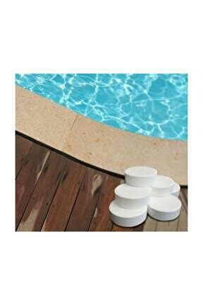 Tablet Klor 1 Kg (5 Adet 200 Gr) Yosun Önleyici Havuz Temizleyici Havuz Tablet Kloru