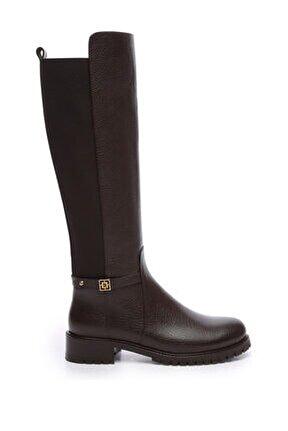 Hakiki Deri Kahverengi Kadın Casual Çizme 94 7311C BN CZM SK19-20